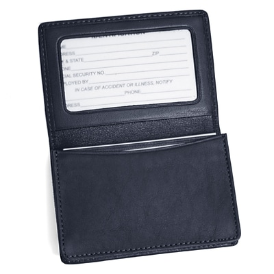 Royce Leather Card Holder, Blue