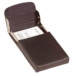 Royce Leather Vertical Framed Card Case, Brown