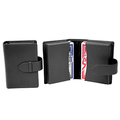 Royce Leather Playing Card Set, Black