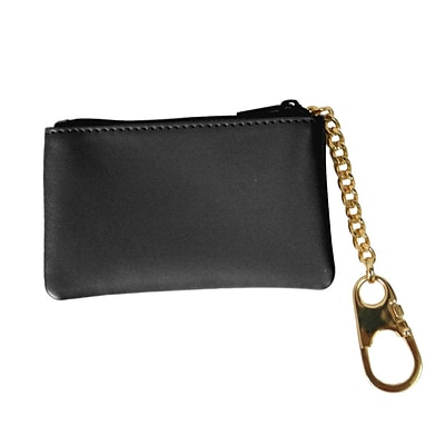 Royce Leather Coin & Key Holder, Black