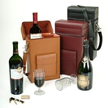 Royce Leather 14.75H x 7.75W x 4D Solid Wine Boxes, Tan
