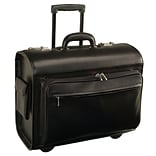 Royce Leather Pilot/Catalog Computer Case, Black