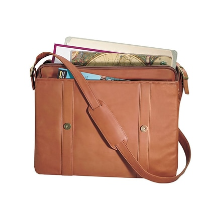 Royce Leather Deluxe Expandable BriefCase, Tan