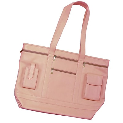 Royce Leather Art Nappa Leather Business Tote Carnation Pink 652-Cp-7