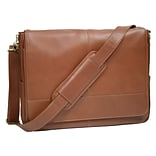 Royce Leather Laptop Messenger Bag, Tan