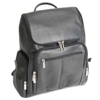 Royce Leather Vaqueeta Nappa Laptop Backpack, Black