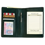 Royce Leather Passport Wallet; Black