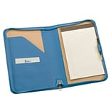 Royce Leather Zip Around Jr. Writing Padfolio;  Royce Blue