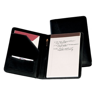 Royce Leather Jr. Writing Padfolio, Black