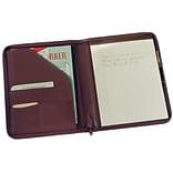 Royce Leather Writing Padfolio;  Burgundy