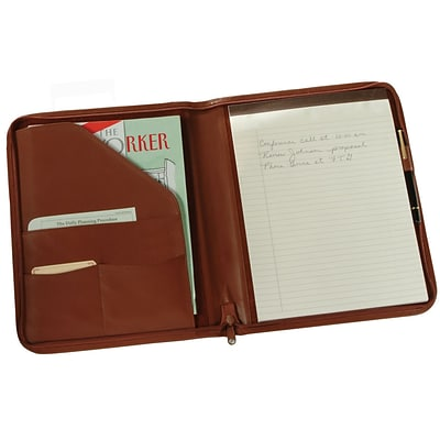 Royce Leather Writing Padfolio;  Tan