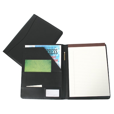 Royce Leather Padfolio; Black