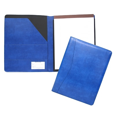 Royce Leather Aristo Padfolio, Malibu Blue