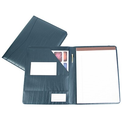 Royce Leather Padfolio, Blue