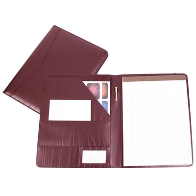 Royce Leather Padfolio, Burgundy (749-BURG-9)
