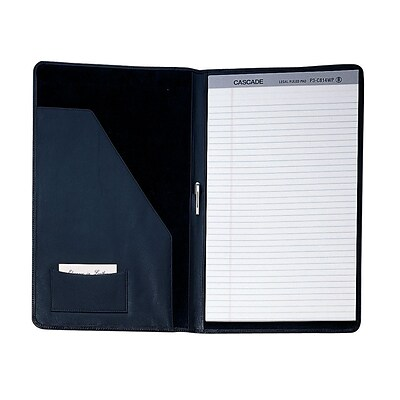 Royce Leather Legal Size Pad Holder, Black (755-BLACK-5)