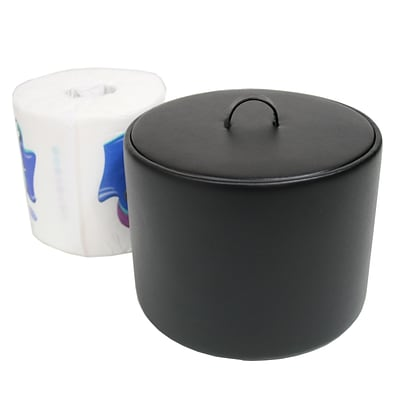 Royce Leather Toilet Tissue Paper Cover Black