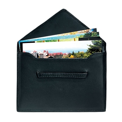 Royce Leather Envelope  4.75H X 6.75W X 0.2D Picture Holder;  Black