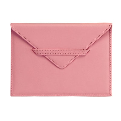 Royce Leather Envelope 4.75H X 6.75W X 0.2D Picture Holder, Carnation Pink
