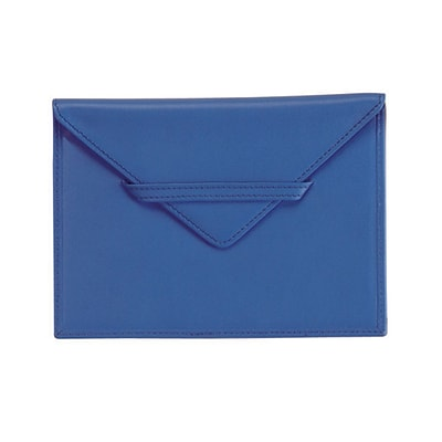 Royce Leather Envelope  4.75H X 6.75W X 0.2D Picture Holder;  Royce Blue