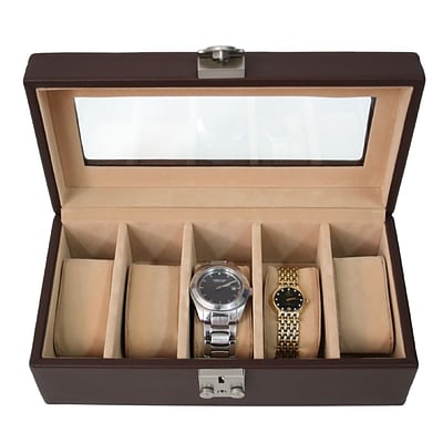 Royce Leather Deluxe 5 Watch Box Coco