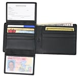 Royce Leather Euro Commuter Wallet; Black