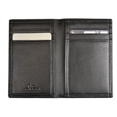 Royce Leather Hanover Blocking Card Case, Black