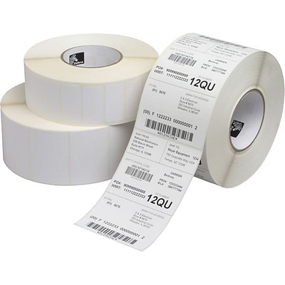 Zebra Z-Ultimate 3000T Permanent Adhesive Thermal Transfer Label for 105SL; White, 1570 Labels/Roll, 4 Rolls/Box (10011699)