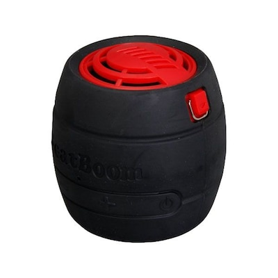 MicroNet® BeatBoom 3000 Portable Wireless Bluetooth Speaker With Built-in Speakerphone; Black/Red.