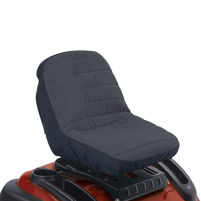Classic Accessories® Deluxe Tractor Seat Cover, Black/Gray, Small