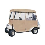 Classic Accessories® Fairway™ Deluxe Four Person 4 Sided Golf Cart Enclosure, Sand