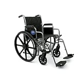 K1 Basic Wheelchair With Removable Desk Length Arm and Swing Away Leg; Black