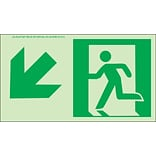 NYC Directional Signs; Down Left, 4.5X8, Flex, 7550 Glo Brite, MEA Approved