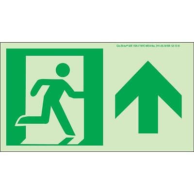 NYC Directional Signs; Forward, 4.5X8, Flex, 7550 Glo Brite, MEA Approved