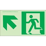 NYC Directional Signs; Up Left, 4.5X8, Flex, 7550 Glo Brite, MEA Approved