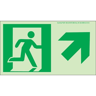 NYC Directional Signs; Up Right, 4.5X8, Flex, 7550 Glo Brite, MEA Approved