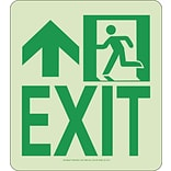 NYC Wall Mont Exit Sign, Forward/Left Side, 9X8, Rigid, 7550 Glo Brite, MEA Approved