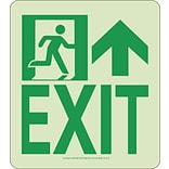 NYC Wall Mont Exit Sign, Forward/Right Side, 9X8, Rigid, 7550 Glo Brite, MEA Approved