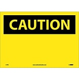 Caution Labels; (Header Only), 10X14, Adhesive Vinyl