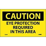 Caution Labels; Eye Protection Required In This Area, 3X5, Ps Vinly, 5/Pl