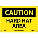 Caution Signs; Hard Hat Area, 7X10, Rigid Plastic