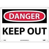 Danger Signs; Keep Out, 10X14, Rigid Plastic