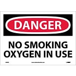 Danger Labels; No Smoking Oxygen In Use, 10X14, Adhesive Vinyl