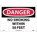 Danger Signs; No Smoking Within 50 Feet, 10X14, .040 Aluminum