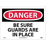 Danger Labels; Be Sure Guards Are In Place, 10X14, Adhesive Vinyl