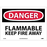 Danger Labels; Flammable Keep Fire Away, 10X14, Adhesive Vinyl