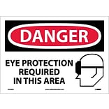 Danger Labels; Eye Protection Required In This Area, Graphic, 10X14, Adhesive Vinyl