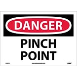 Danger Labels; Pinch Point, 10X14, Adhesive Vinyl