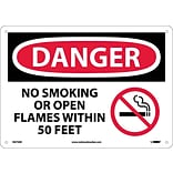 Danger Signs; No Smoking Or Open Flames Within 50 Feet (Graphic), 10X14, .040 Aluminum
