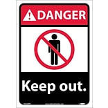 Danger Labels; Keep Out, 14X10, Adhesive Vinyl